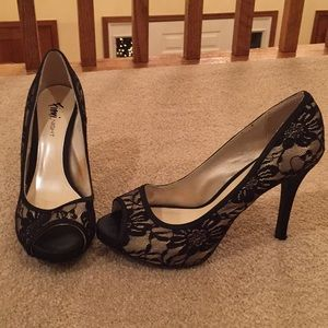 Laced Black High Heels